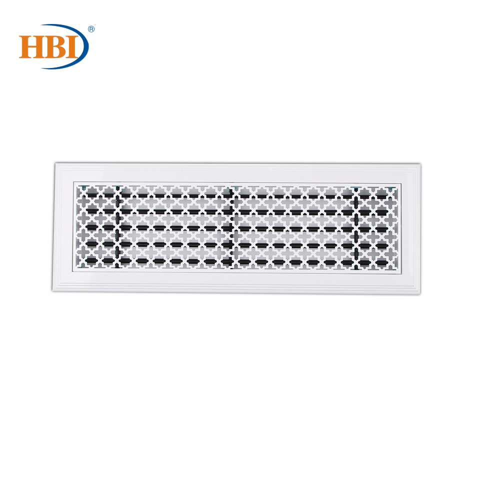 500mm X 150mm Pattern-Lucky Stars Rectangular Plastic Frame Steel Decorative Air Grille Vent Retro Style Outlet White
