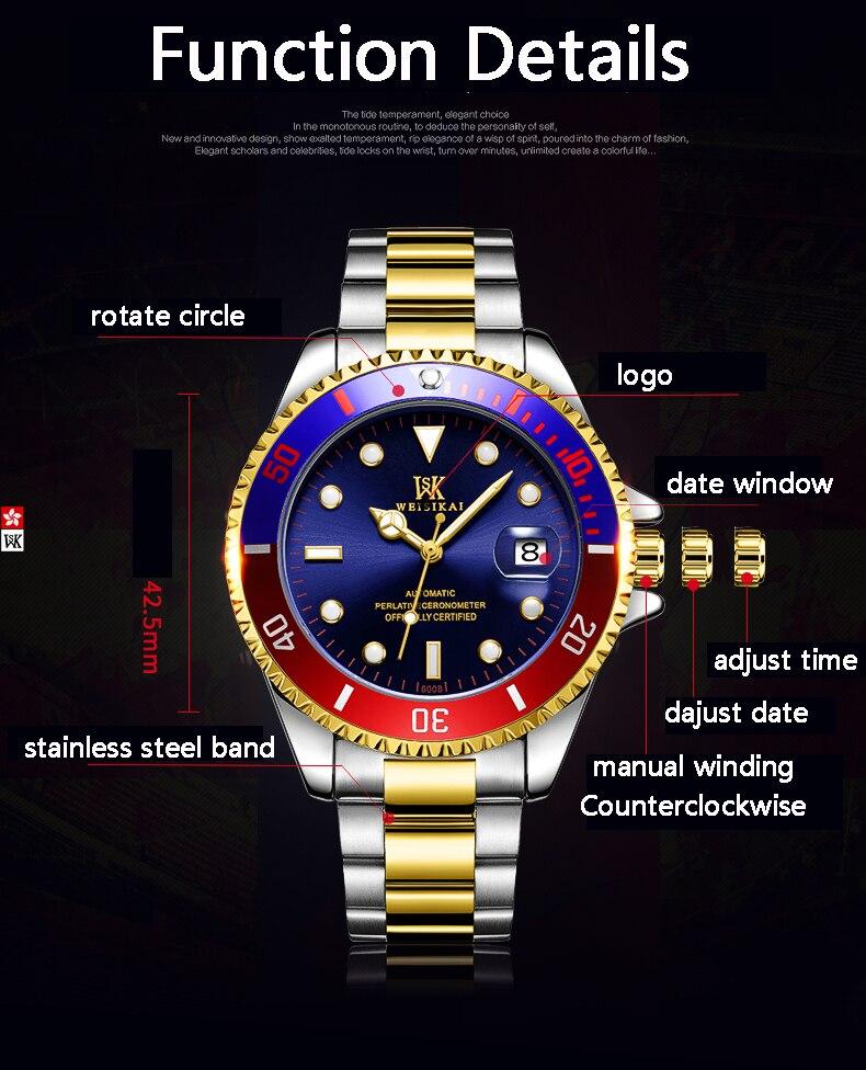 Masculino Marke Automatische Uhren 12