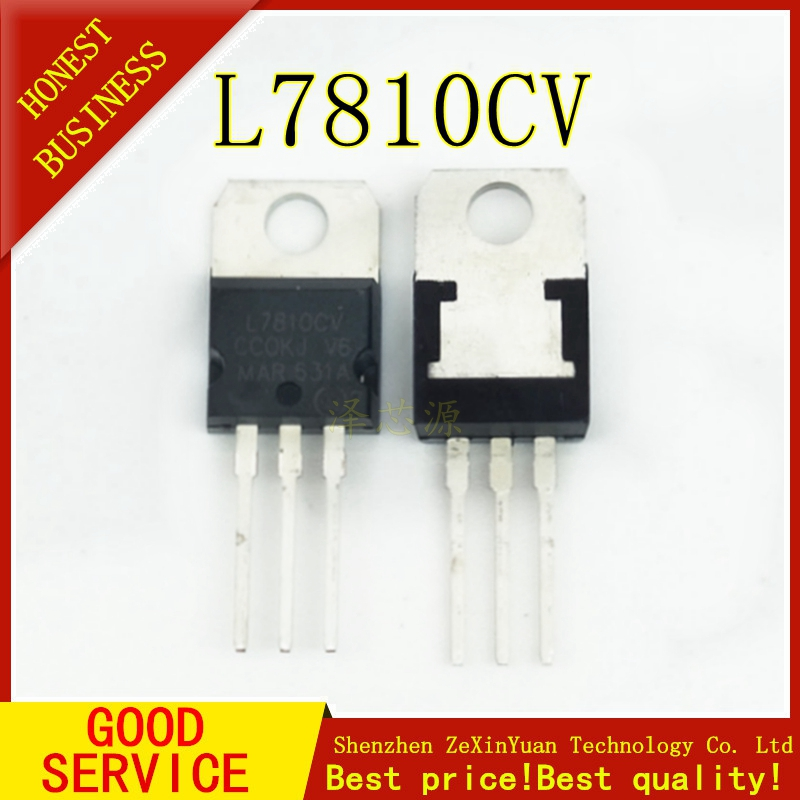 10pcs/lot New L7810CV TO-220 L7810 7810 Voltage Regulator Free Shipping