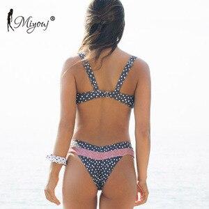 Image 2 - Miyouj Bikinis con Push Up para mujer, traje de baño Floral, bañador de lunares, conjunto de Bikini de Bandeau para playa 2019