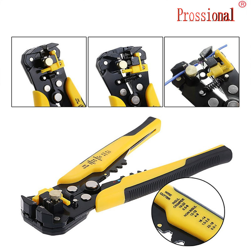 Hot 3 In 1 Multi-functional Crimping Tool Auto Crimping Pliers Cutting & Pressing Wire Stripper Self Adjusting Electrician Tool