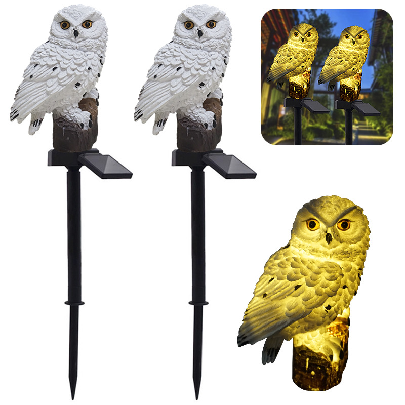Led Solar Power Outdoor Garden Waterproof Owl Stake Lawn Light Exterior Night Lights Owl Shape Solar Powered Energia Lamp(China)
