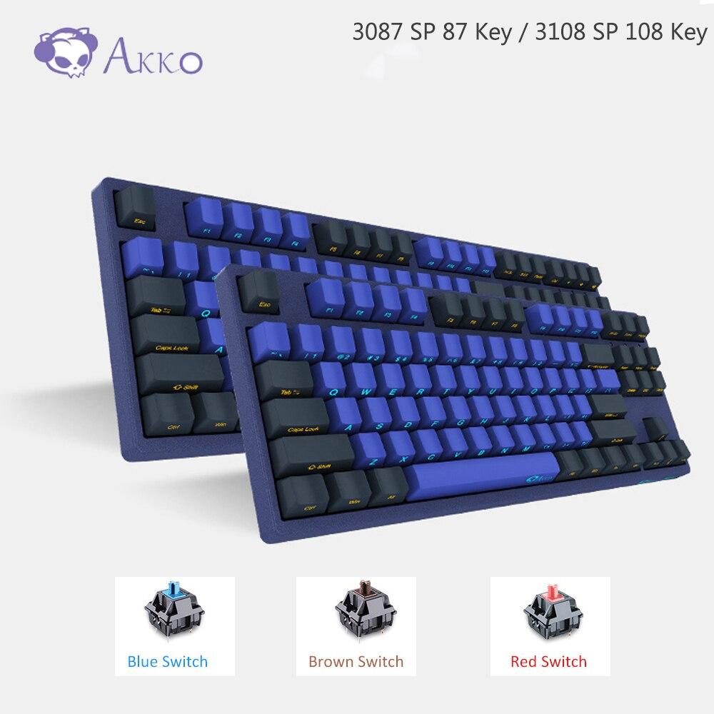 AKKO 3087/3108 SP Horizon Skyline Gaming Mechanical Keyboard 87/108 Key Cherry MX Switch 85% PBT TYPE-C USB Creative Side Letter