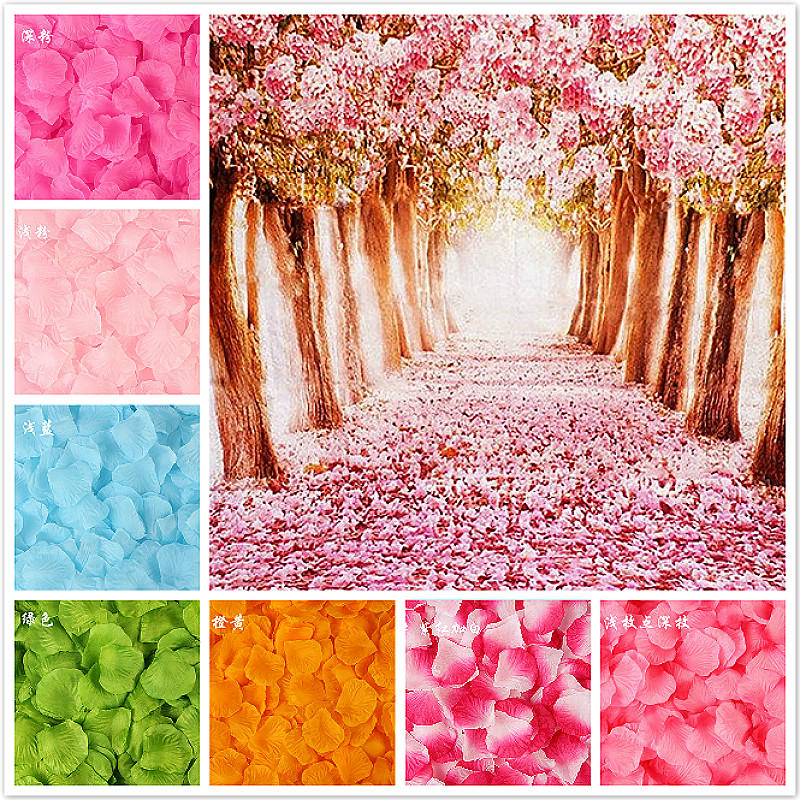 100piece/lot 5*5cm Artificial Flowers Simulation Rose Petals Decorations Wedding Marriage Room Rose Flower Gift