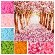 100 шт./лот, 5*5 см, Моделирование искусственных цветов, лепестки роз, украшения для свадьбы, свадьбы, комнаты, розы, подарок