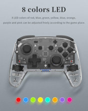 Wireless Controller For Nintend Switch Console Remote Gamepad For NS Pro Joystick With LED Light