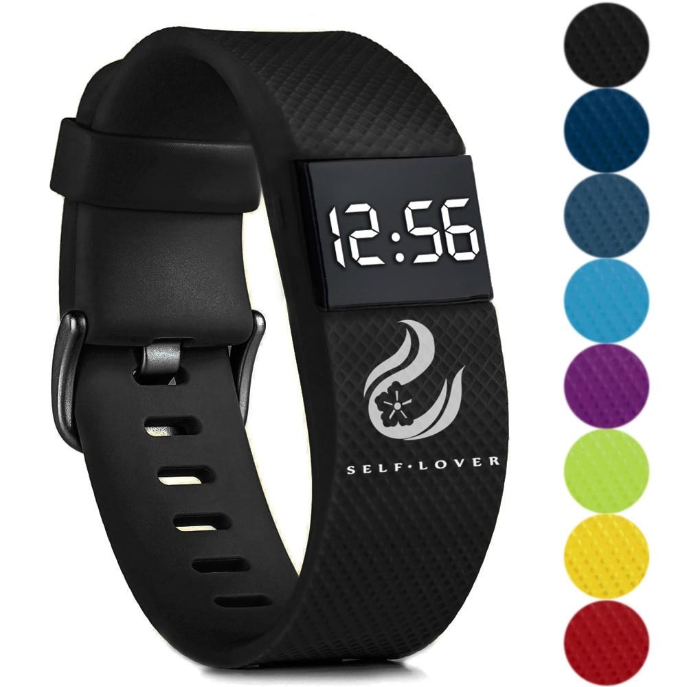Digital Watches Fashion Digital LED Sports Watch Unisex Silicone Band Wrist Watches Men Women Clock Wristwatch Reloj Mujer W3