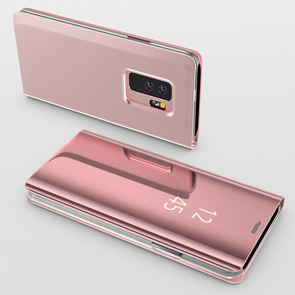 mirror flip cover for samsung galaxy s8 s9 plus note 8 9 full cover (11)