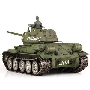 1:16 Soviet T-34 Medium Tank 2.4G Remote Control Model Military Tank With Sound Smoke Shooting Effect 3 Version Edition