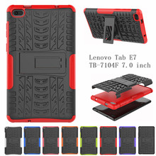 Case For Lenovo Tab E7 TB-7104F TB-7104 7.0 inch Cover Heavy Duty 2 in 1 Hybrid Rugged Durable Funda Tablet Stand Shell Capa