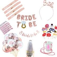 Noiva para ser faixa hen festa decoração óculos equipe noiva crachá para festa de casamento nupcial chuveiro carta ouro hw67