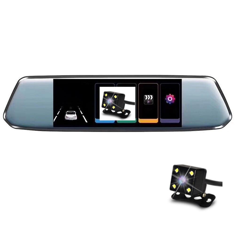7 pouces 12V écran tactile voiture DVR 1080P double lentille caméra rétroviseur enregistreur vidéo Dash Cam Vision nocturne Auto caméra