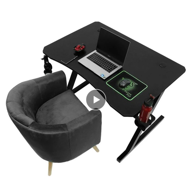 Multifunctional With Cup Holder + Headphone Holder Z Type Tilting Gaming Table For Bedroom Living Room Office Stylish Simplicity