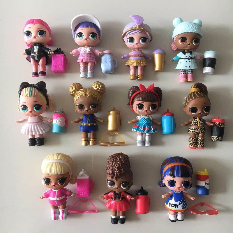 Series 4 Lols Big Doll Set With Clothes Shoes Bottle And Other Accessories DIY Kids Older Sister Dolls