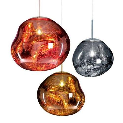 Modern Pendant Light Replica Of  D30/40cm Melt Glass/electroplating Lava Pendant Lights For Villa Living Room Retaurant