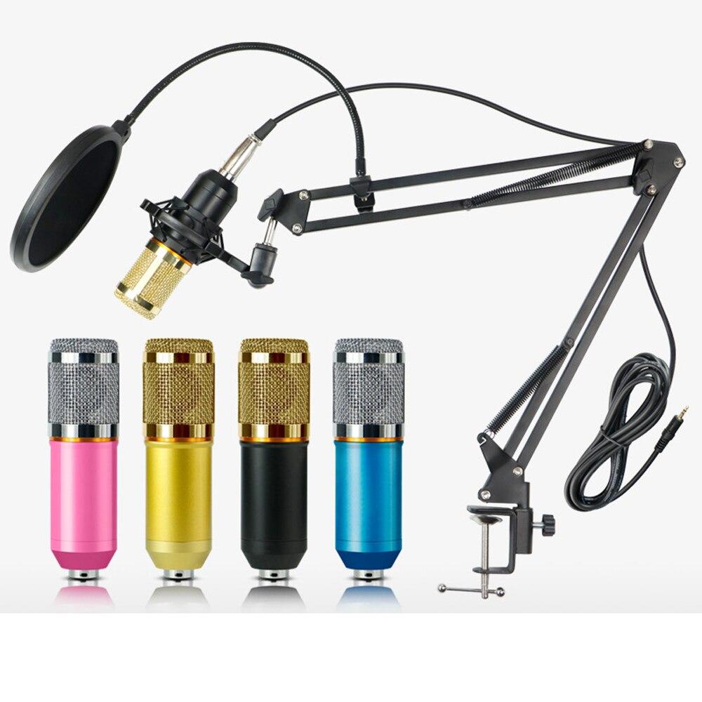 Condensateur 3.5mm filaire professionnel Studio Microphone enregistrement Vocal KTV karaoké Microphone micro support pour ordinateur - 5