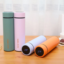 Thermos cup Tea Vacuum Flask With  Filter Stainless Steel 304 Thermal Cup Coffee Mug Water Bottle Temperature display 450ml hot water thermos tea vacuum flask with filter stainless steel 304 sport thermal cup coffee mug tea bottle for winter