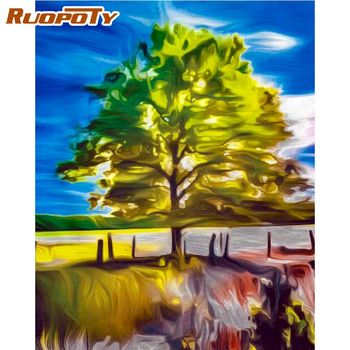 RUOPOTY 60x 75cm Framed Picture By Numbers Kits Home Decoration Wall Artcraft Diy Gift For Adults Children Acrylic Paint Draw Ar