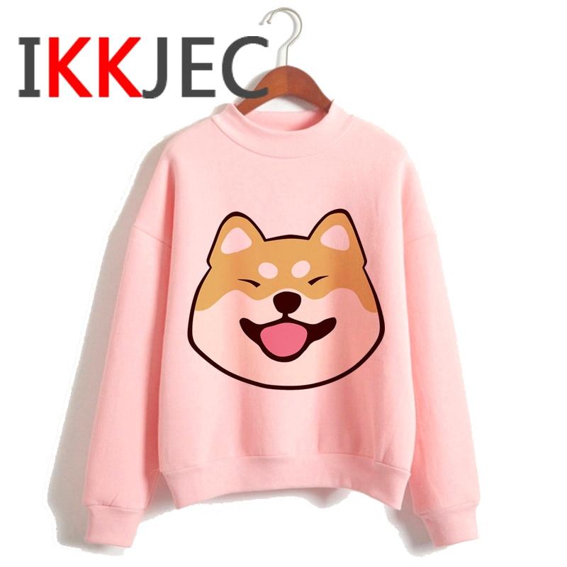 Shiba Inu Kawaii Dogs Funny Cartoon Grunge Aesthetic Hoodies Women Ladies Harajuku Cute Anime Sweatshirt Streetwear Hodoy Female 15