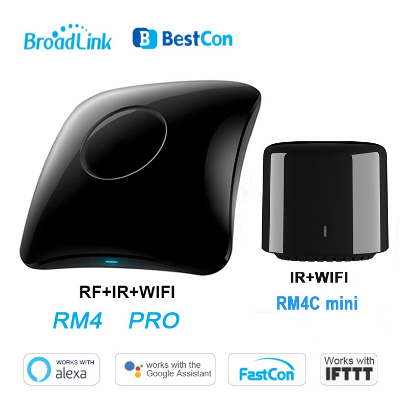 Broadlink RM4 Pro Rm4C Mini Smart Home Automation WiFi IR RF Universal Intelligent Remote Controller Work With Alexa Google Home
