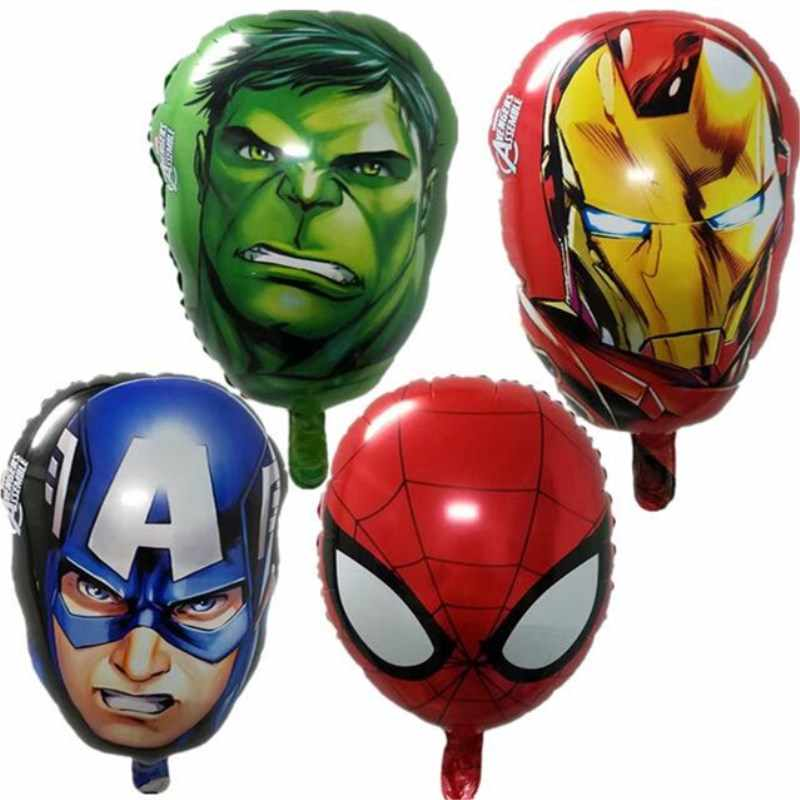 Vários vingadores super-herói folha balões capitão américa superman homem de ferro clássico ballons festa de aniversário do menino decoração presente