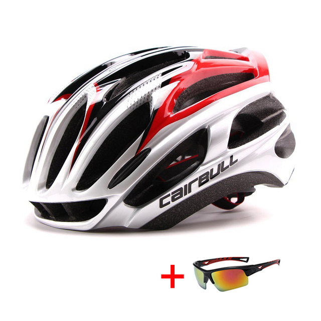 In-mold mountain bike estrada capacete da bicicleta com óculos de sol unisex esportes equitação ciclismo capacete ultraleve xc mtb bicicleta capacete 1