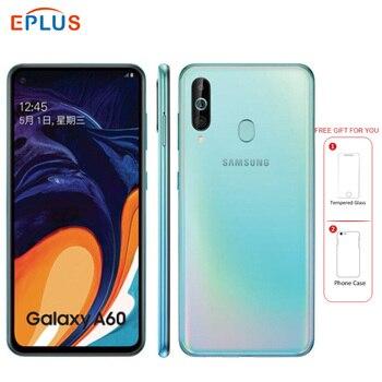 Перейти на Алиэкспресс и купить Новый оригинальный 6,3 дюймовый мобильный телефон samsung Galaxy A60 6 ГБ 128 ГБ, 32 МП, тройная камера Snapdragon 675, четыре ядра, 4G, Android телефон