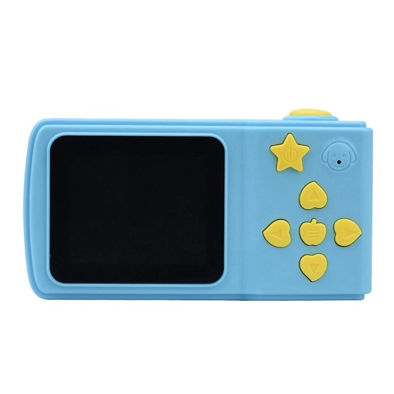 Kids Camera Children Mini Digital Camera 2 Inch Cartoon Cute Camera Toys Children Birthday Gift Toddler Toys Camera-Blue