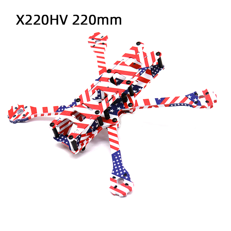 TCMMRC 5 Inch FPV Drone Frame X220HV Star Spangled Banner Printed Frame Kit Wheelbase 220mm Carbon Fiber For FPV Racing Drone-in Parts & Accessories from Toys & Hobbies