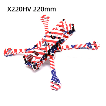 TCMMRC 5 Inch FPV Drone Frame X220HV Star-Spangled Banner Printed Frame Kit Wheelbase 220mm Carbon Fiber For FPV Racing Drone iflight xl5 v4 true x fpv racing frame 227mm wheelbase 3k carbon fiber airframe for diy rc drone quadcopter
