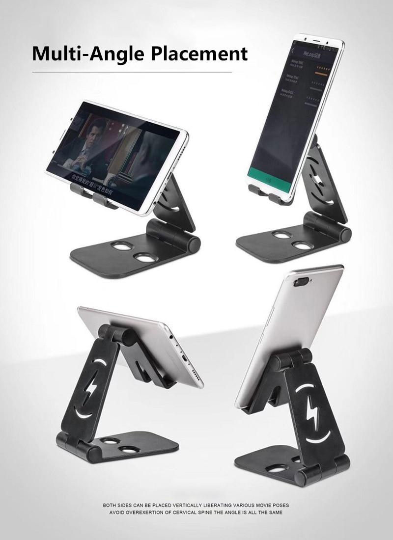 Universal Lazy Mobile Phone Holder Folding Metal Double Adjustable Shelf For Iphone Huawei Samsung Xiaomi TSLM1