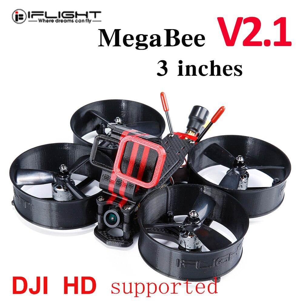 Iflight Megabee V2.1 Frame Dji Hd Ondersteuning Succex F4 Vlucht Controller 35A 4 In 1 Esc Xing 1408 3600KV Borstelloze Motor Fordrone
