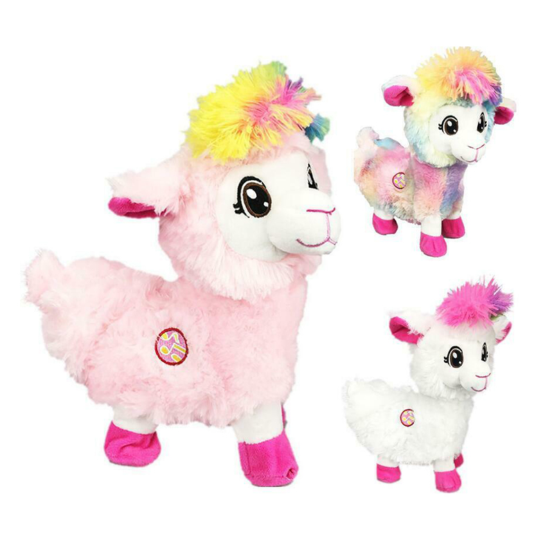Funny Toys Zuru Pets Alive Boppi The Llama Robotic Booty Shakin Cute Plush Toys Xmas Gift Dropshipping
