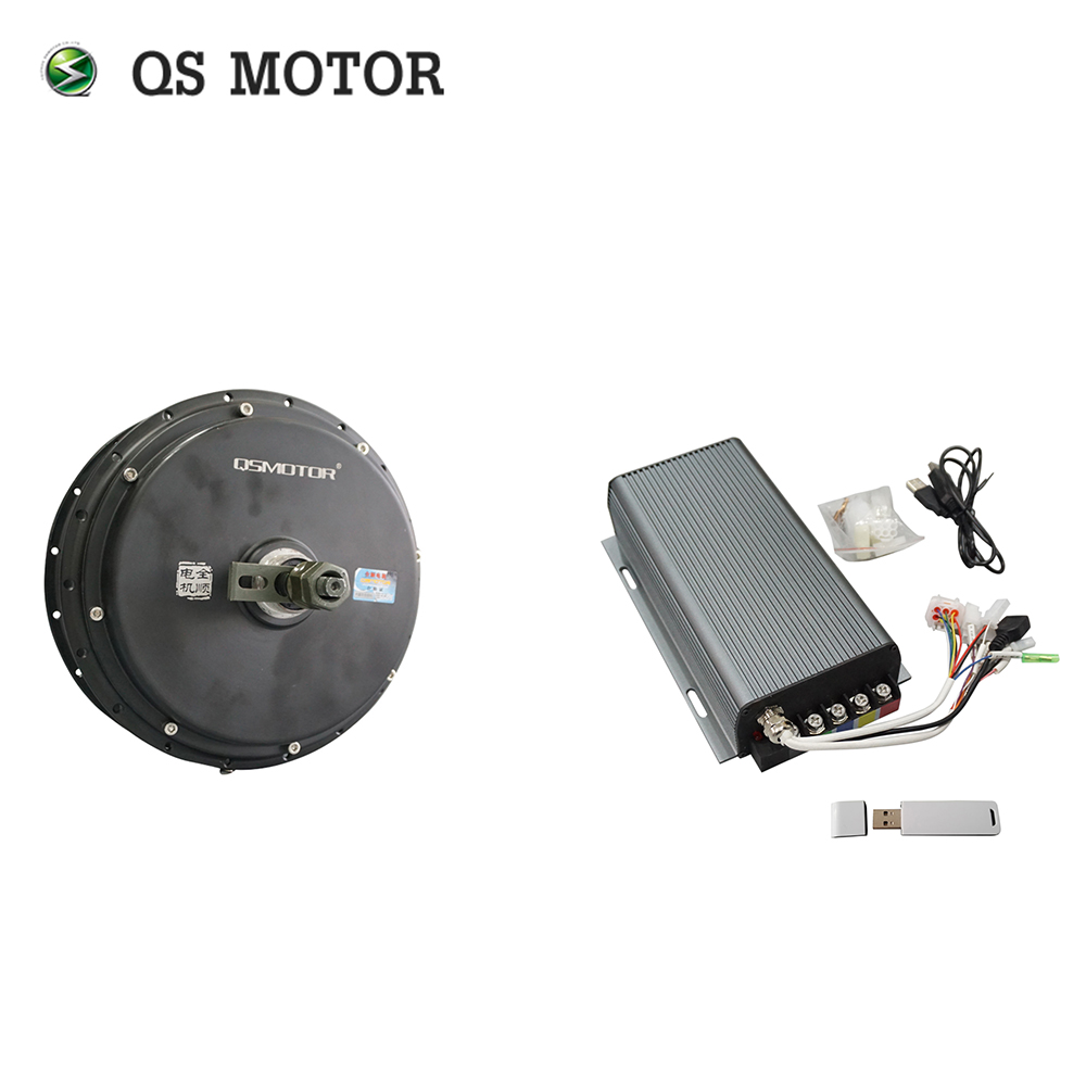 QS Motor Bicycle Spoke motor <font><b>3000W</b></font> 205 (50H) V3 Type Hub Motor with SVMC72150 controller 72V 80-100km/h customize speed image