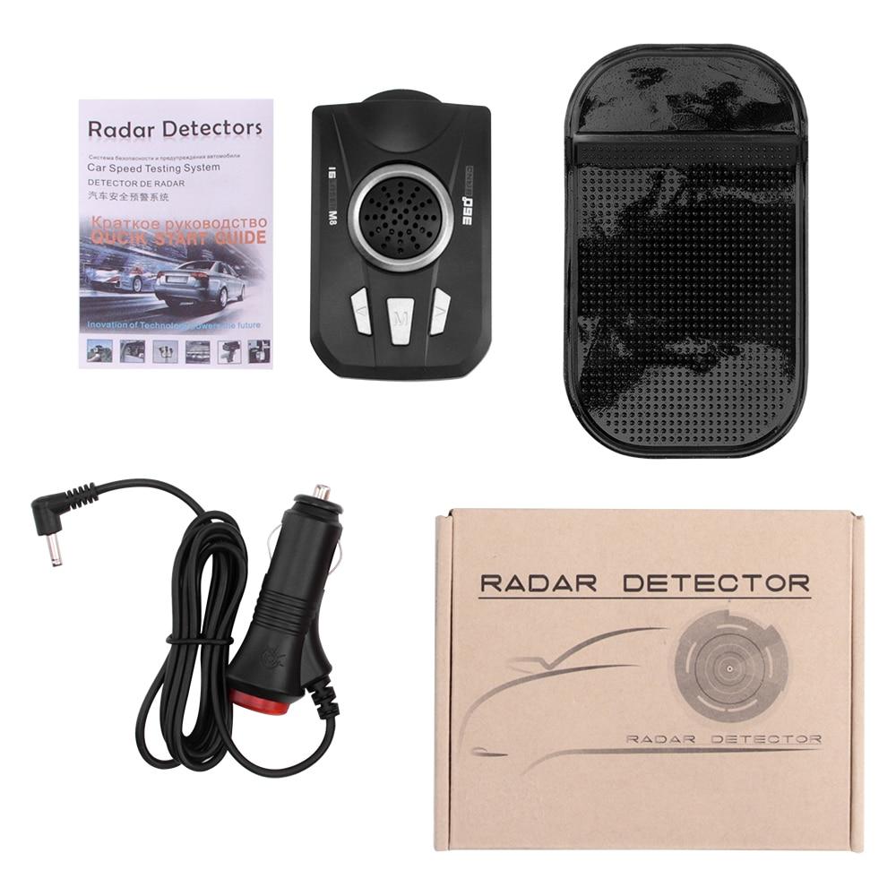 Image 5 - BORUiT Universal Car Radar Detector M8 Full Band Scanning Car Radar Voice Alert Warning Speed Control Detector-in Radar Detectors from Automobiles & Motorcycles