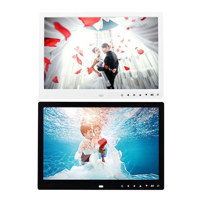 13 inch HD Digital Photo Frame 1280x800 Music Movie Player Remote Control MP3 MP4 Calendar Alarm Clock Electronic Album