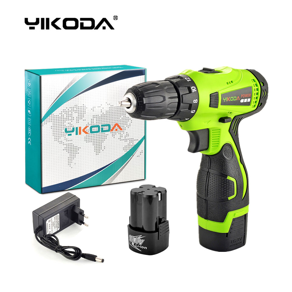 16.8V Household Double Speed Cordless Drill Electric Screwdriver Rechargeable Power Tools Two Lithium Battery Carton
