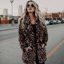 Gacloz Leopard Coat Women Autumn Winter Thick Warm Fashion Artificial Fur Women Coats Outerwear Faux Fur Jacket Coat Veste Femme(China)