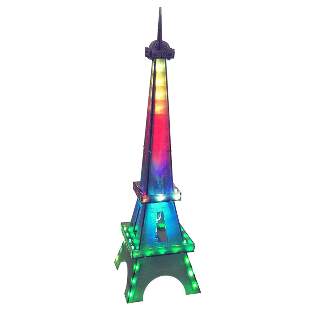 DIY LED Display Lamp DIY Welding Light Kits DIY Lamp Brain-Training Toy For Children Education Toys Birthday Gift - Eiffel Tower
