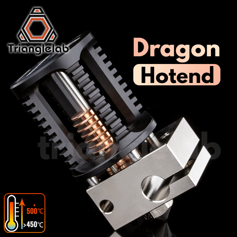 Trianglelab Drago Hotend Super precisione 3D testa di estrusione stampante Compatibile con V6 Hotend e zanzara Hotend adattatore