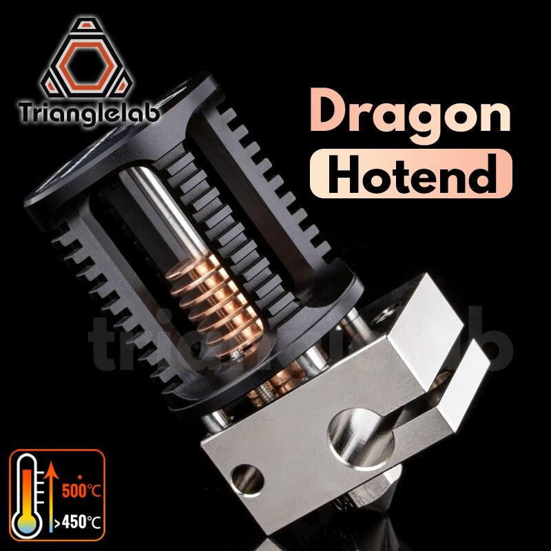 Trianglelab ejderha Hotend süper hassas 3D yazıcı ekstrüzyon kafası ile uyumlu V6 Hotend ve sivrisinek Hotend adaptörü