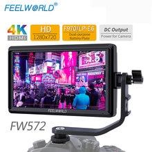 FEELWORLD FW572 5.5 אינץ DSLR מצלמה צג 4K HDMI LCD IPS HD 1280x720 תצוגת שדה צג עבור מצלמות ירי קולנוע