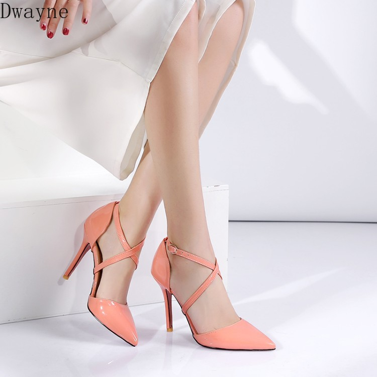 Concise Elegant Thin Heels Single <font><b>Shoes</b></font> <font><b>Sexy</b></font> Wild High Heels <font><b>Large</b></font> Small <font><b>Size</b></font> Women's <font><b>Shoes</b></font> Party Dress Pumps 31,32,33,45,46,47 image