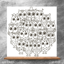 ZhuoAng Cute owl Clear Stamps/Silicone Transparent Seals for DIY scrapbooking photo album Stamps