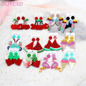 Acrylic Toucan Drop Earring Bird Earrings Vintage Bird High Quality Acrlic Glitter Laser Cutout-HP009