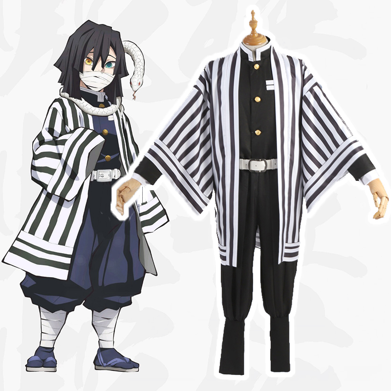 Anime Comic Demon Slayer Kimetsu No Yaiba Cosplay Costumes Obanai Iguro Cosplay Costume Uniforms Halloween Party Blade Of Demon