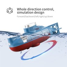 Mini RC Submarine 6 Channel Remote Control Boat Ship Waterproof Diving Toy Simulation Model Gift For Kids
