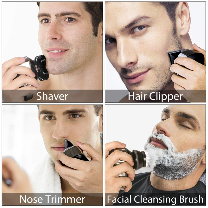 wet dry electric shaver for men beard hair trimmer electric razor rechargeable bald shaving machine LCD display grooming kit 2