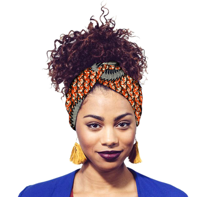 African Scarf Women Fashion Print Hair Band Wrap HeadBand Nigerian Girl Turban Headtie Ankara Costume Rich Bazin Dashiki Clothes