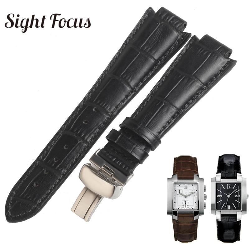 24x14mm(buckle 18mm) Men Leather Watchband 1853 for Tissot T60 Strap Belt 17x10mm Women Bracelet Convex End Strap Brown Bracelet